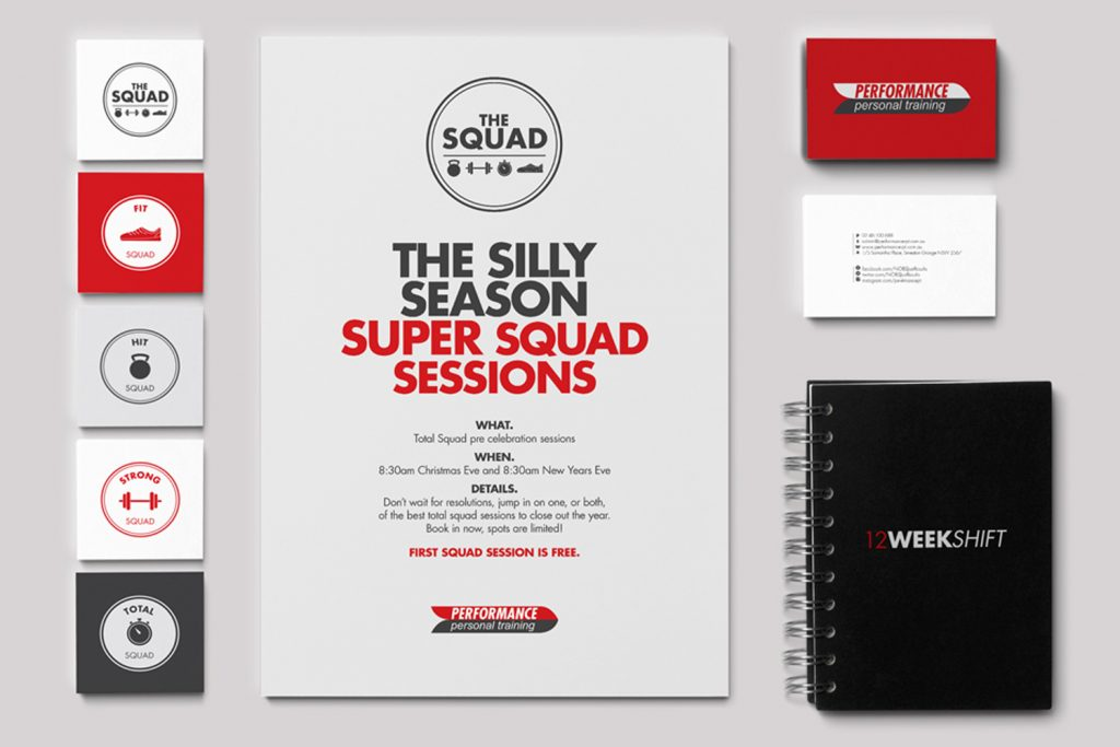 Performance Personal Training Collateral