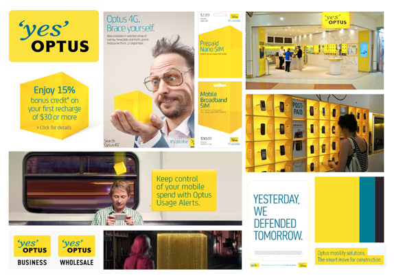 Old Optus collateral
