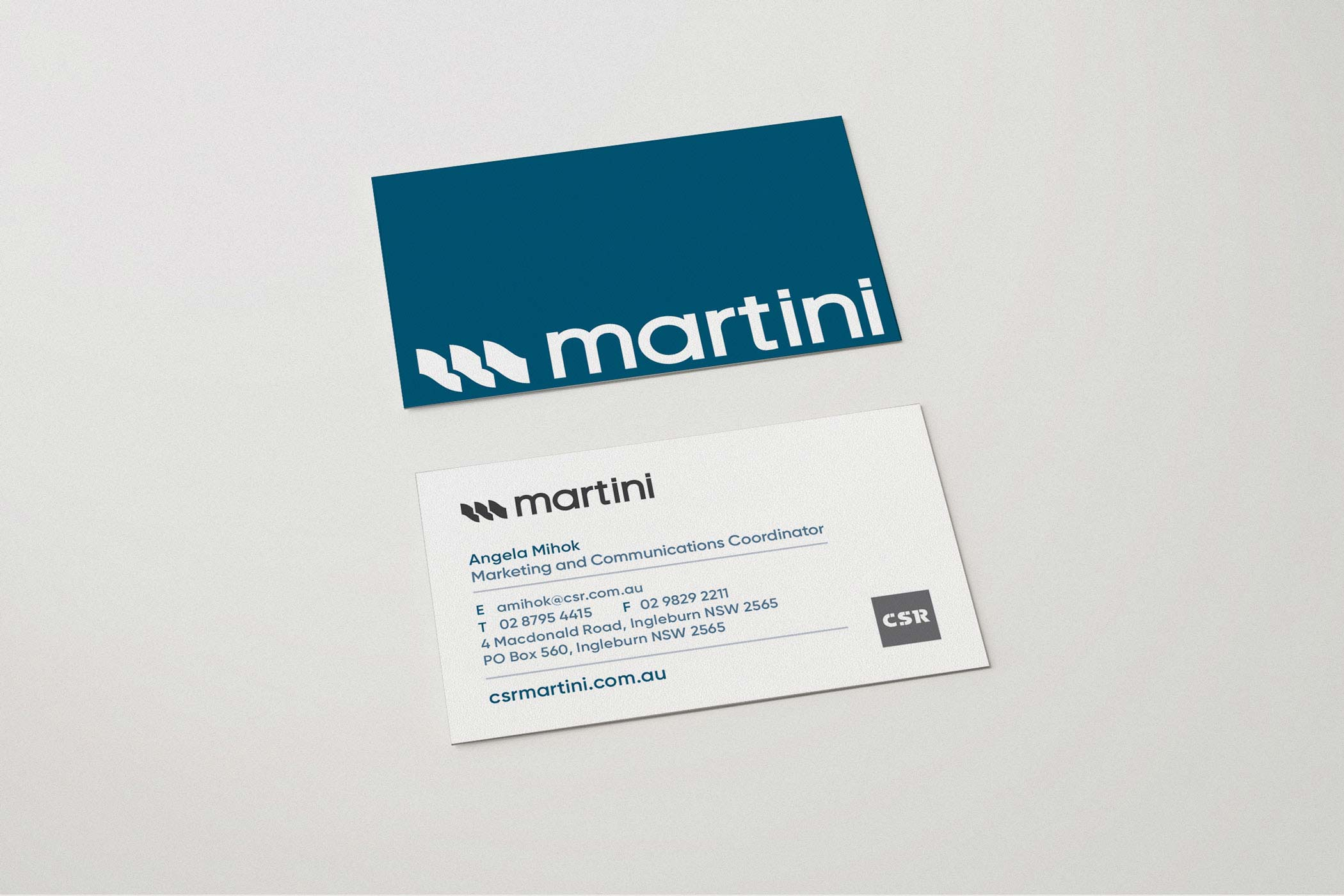 CSR Martini Rebrand by Your One and Only